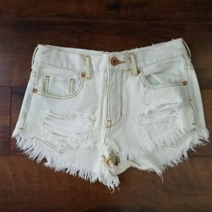 LIKE NEW White Jean Shorts